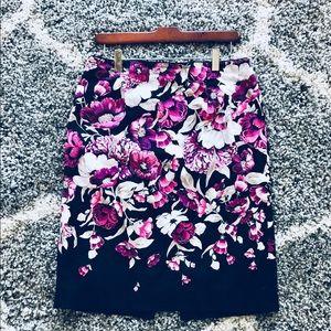 WHBM Floral Pencil Skirt